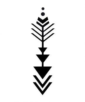 tatuaje temporal triarrow feel tattoo