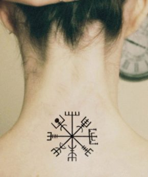 tatuaje temporal vegvysir modelo feel tattoo