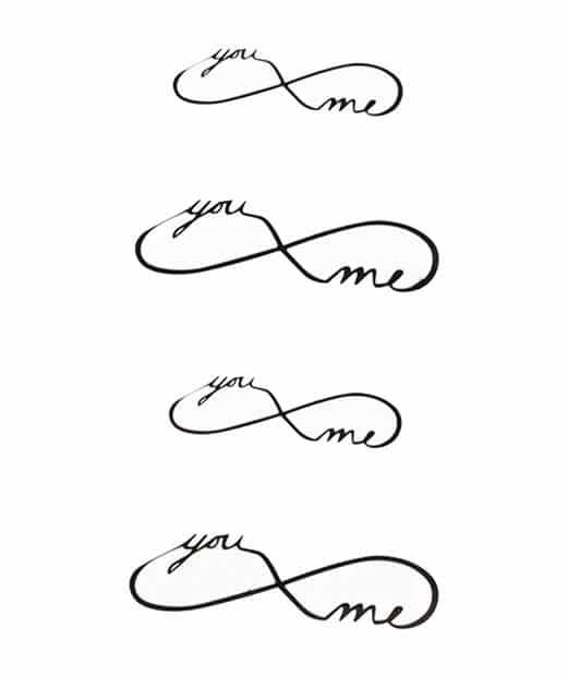 tatuaje temporal you and me feel tattoo