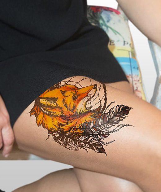 tatuaje temporal zorro modelo feel tattoo