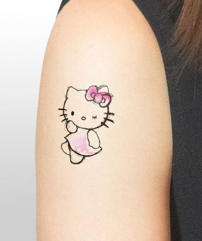 tatuaje temporal hello kitty modelo feel tattoo