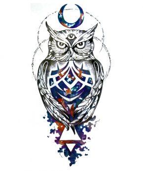 tatuaje temporal buho ajna
