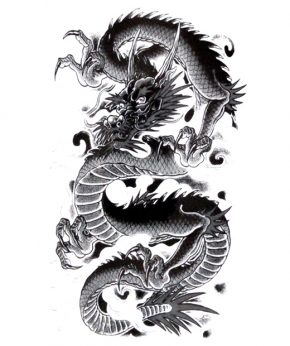 tatuaje temporal dragon dilong