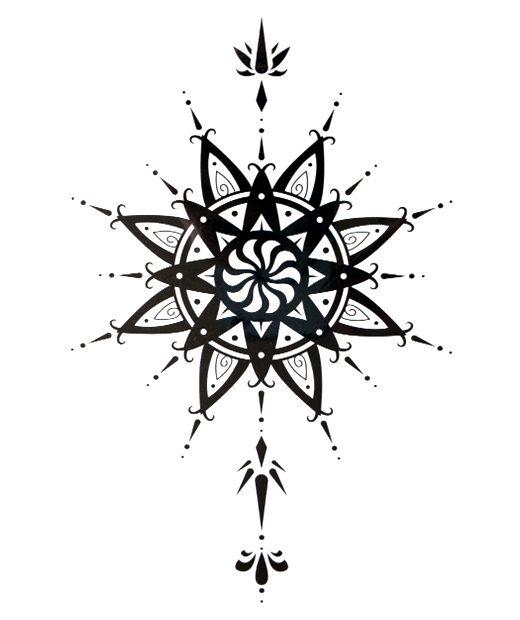 tatuaje temporal flor salomon